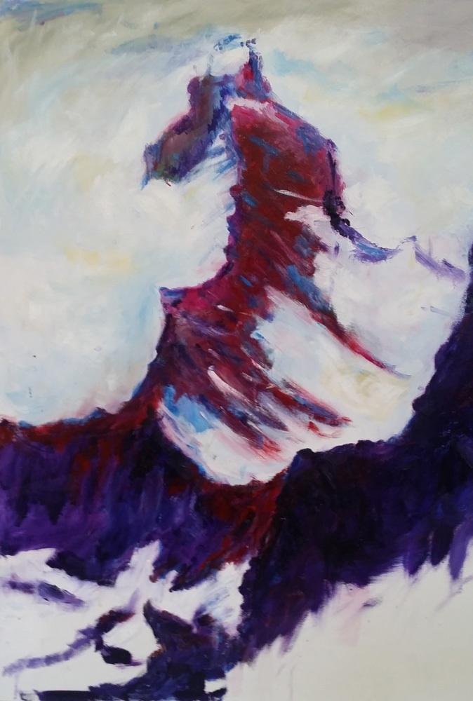 Sturm am Matterhorn, Öl auf Leinwand, 80 x 60 cm.