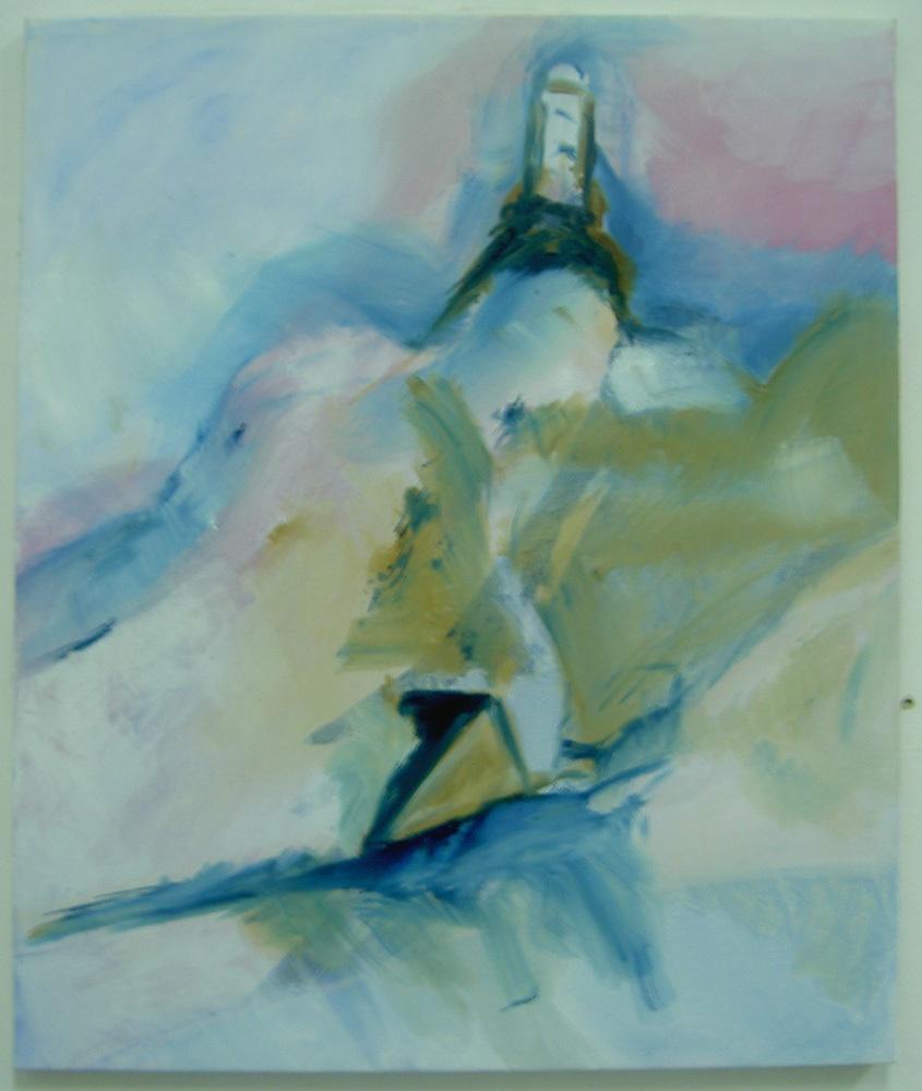 Hochalpine Forschungssration Jungfraujoch, Öl auf Leinwand, 60 x 50 cm.