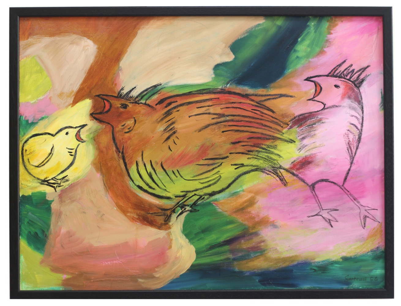 Der Schrei nach Freiheit, Öl auf Leinwand, 60 x 80 cm.