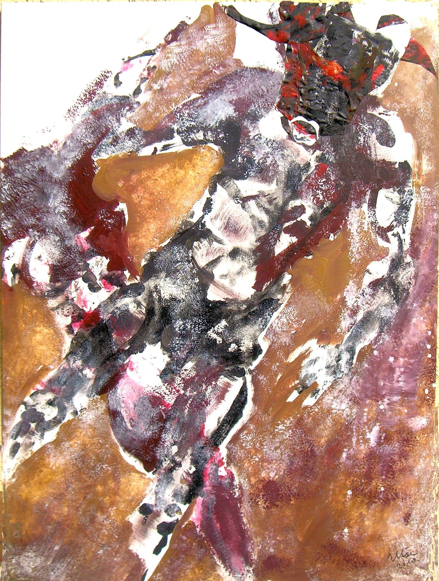 minotaurus acryl auf lw