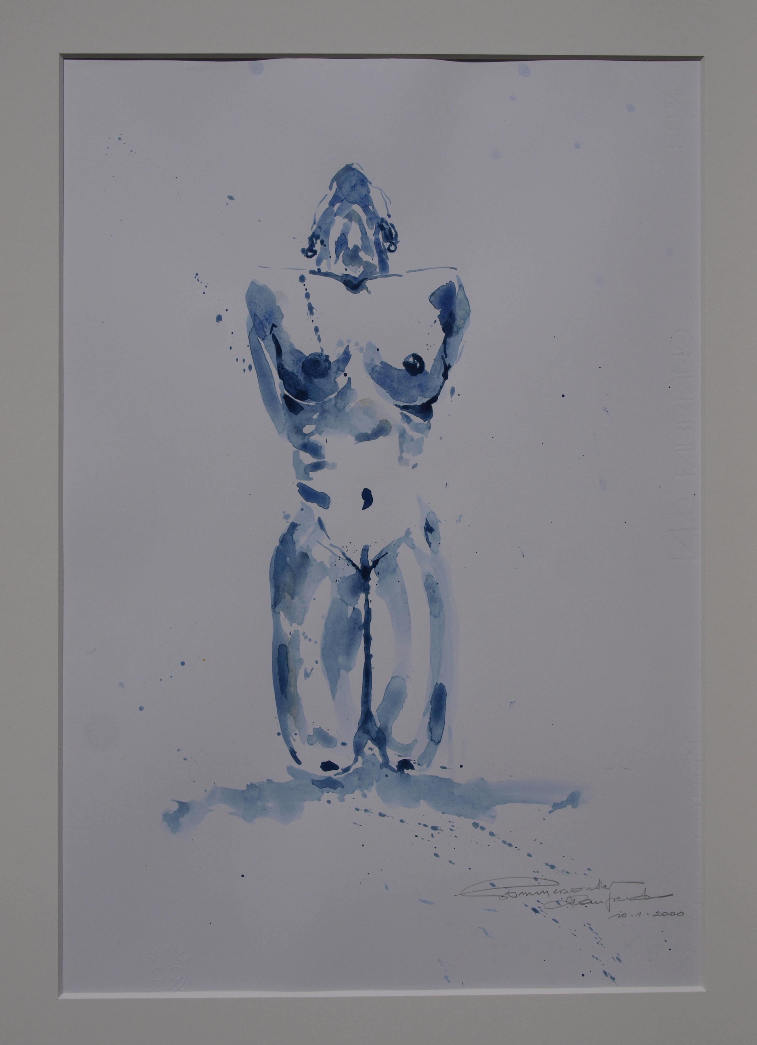 Akt blau