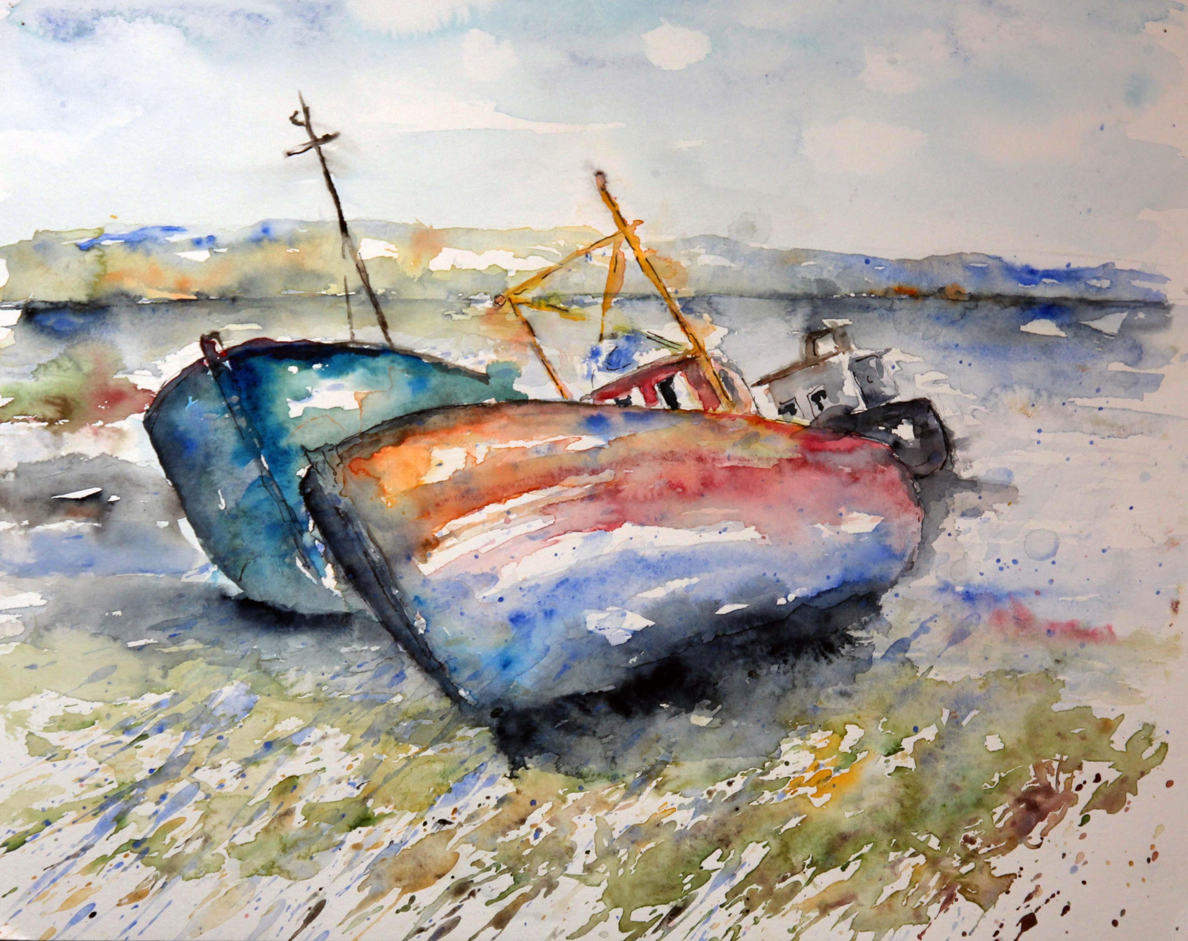 Alte Boote in Korfu