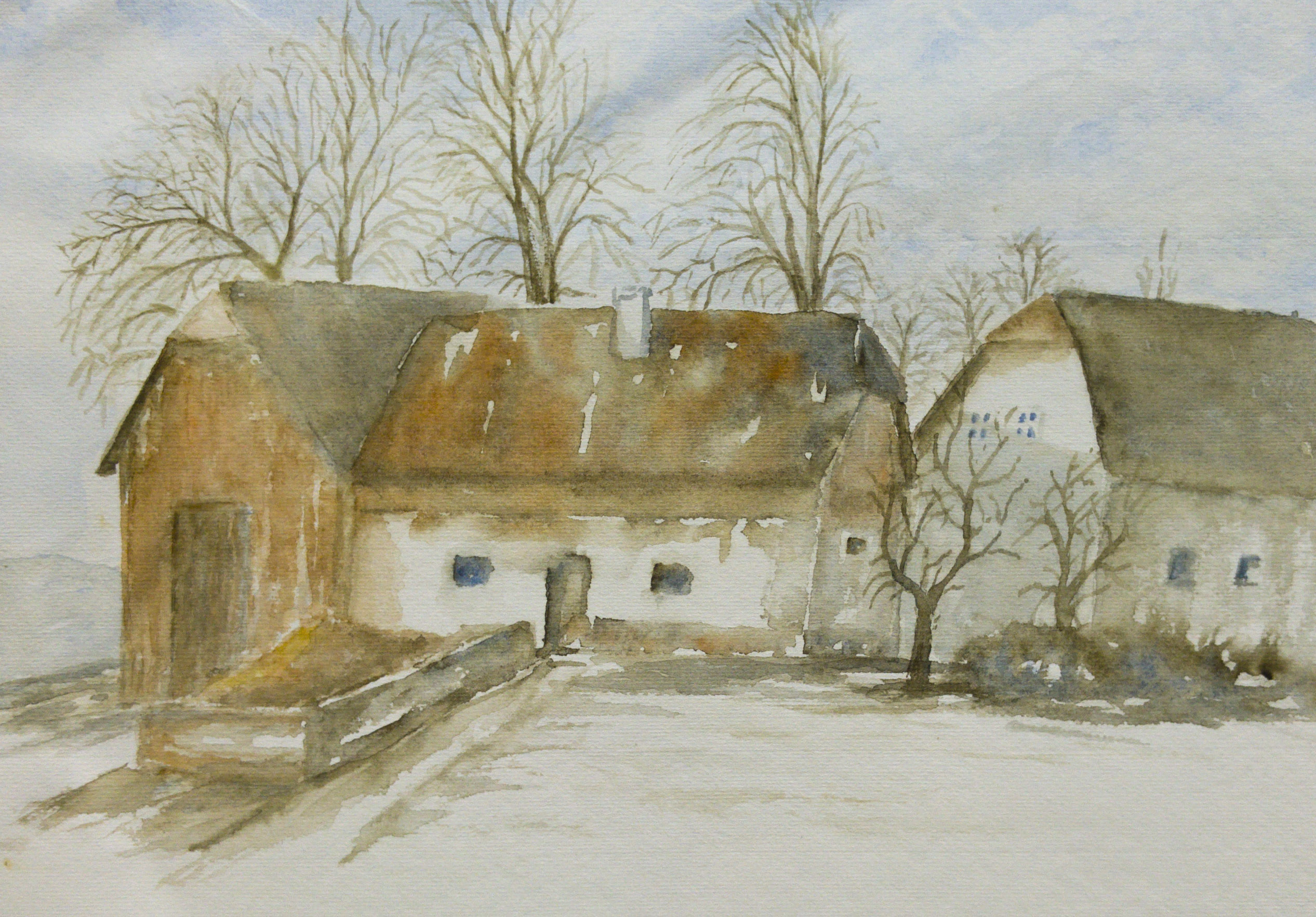 Am Gmundnerberg, Aquarell