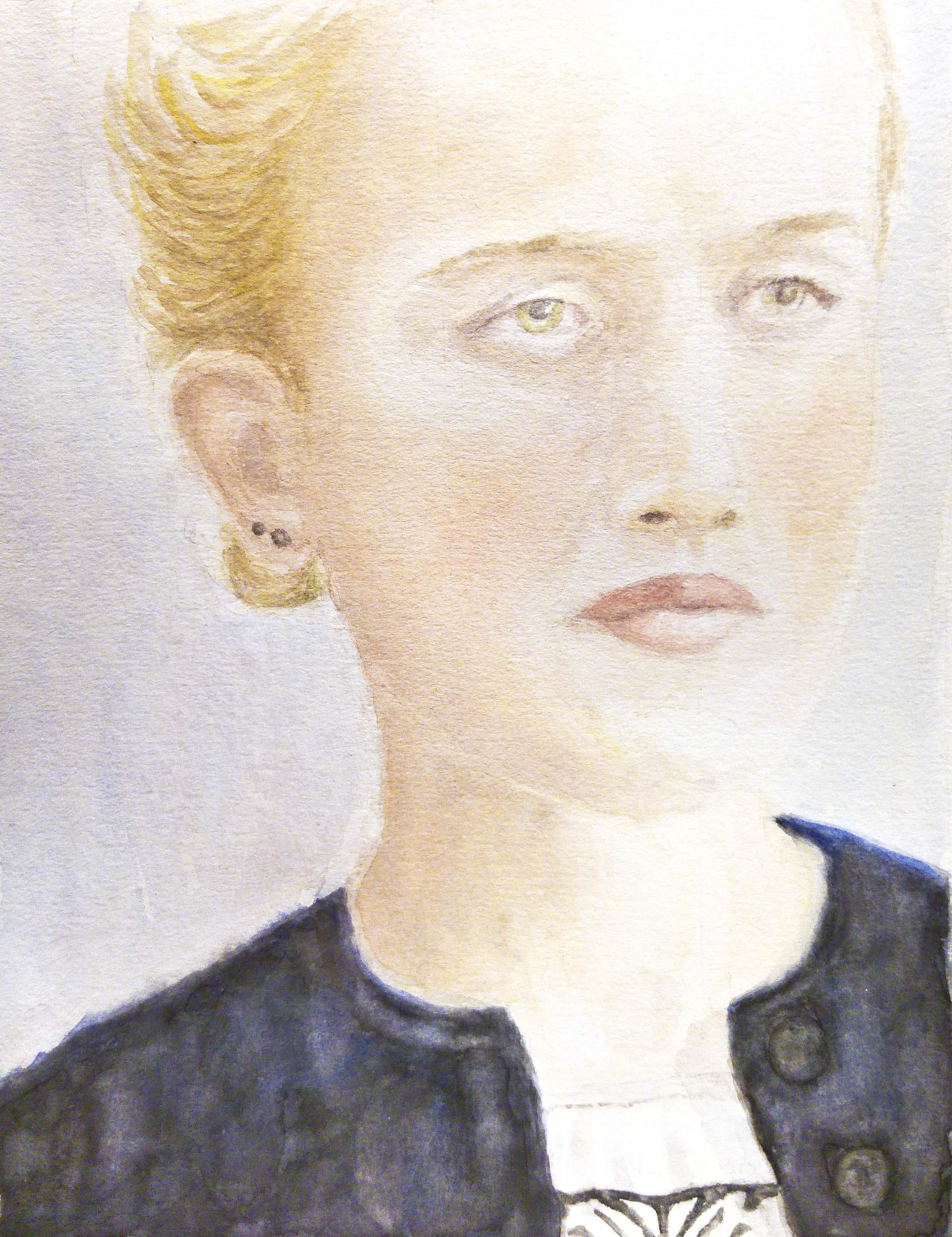 Junge Frau mit schwarzer Jacke