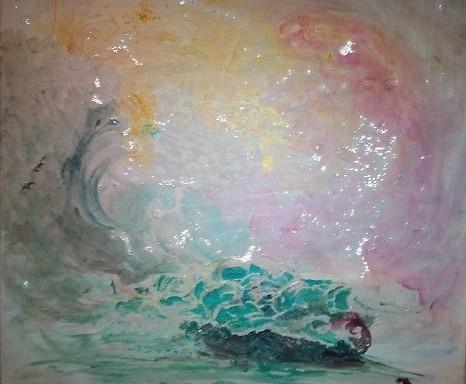 Aus der Serie Eruptionen: Gottes Odem, die Schöpfung in einem Atemzug