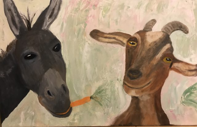 Esel und Geiß