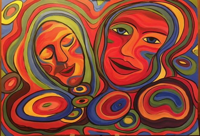 Psychedelische Gesichter